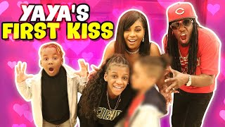 Yaya Gets Her First Kiss