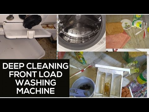 Deep Cleaning Front Load Washing machine  at home with easy  Diy cleaner