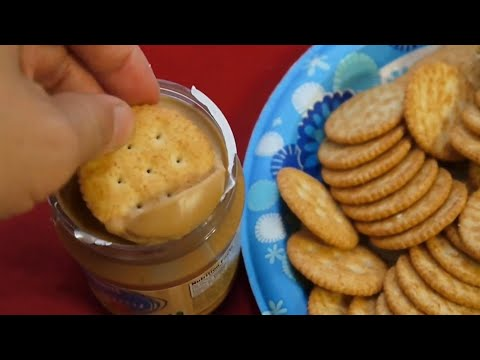 I eat Peanut Butter with Ritz Crackers