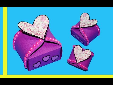 diy-paper-crafts-idea---gift-box-sealed-with-hearts---gift-heart-box-making-ideas-/-julia-diy