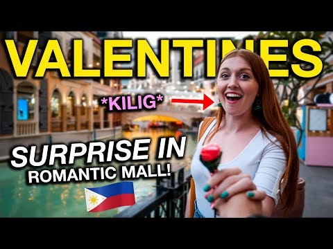 First FILIPINO VALENTINES DAY! Surprised Her in Most Romantic Philippines Mall!