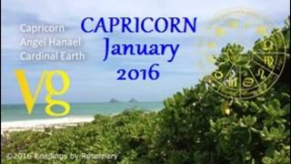 Capricorn JANUARY 2016 Astrology Angel Horoscope Forecast, Sublime Rune Stone