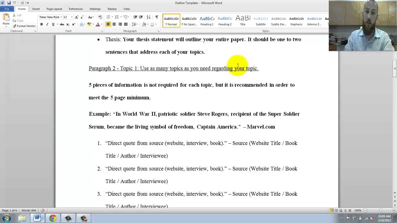 How to write a final year dissertation