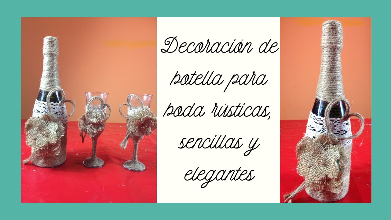 Decoraci n botella estilo vintage para bodas vintage for Decoracion bodas