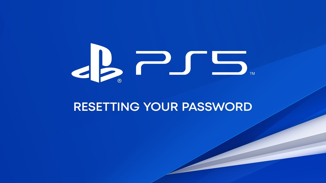 How to reset your password on a PS5 console