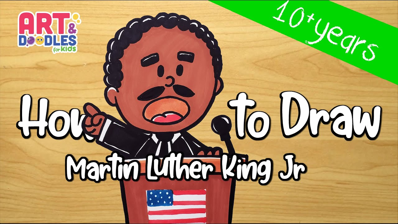 How to draw cartoon Martin Luther King Jr