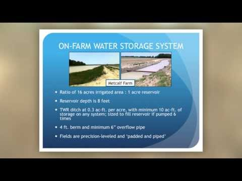 Potential Water Benefits of On-Farm Storage Systems