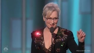 Meryl Streep powerful speech at the Golden Globes 2017