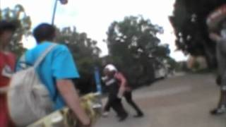Temple Security choking a kid for skateboarding
