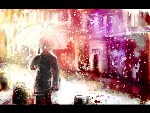 Serenity   (speed painting/ drawing of person walking away)