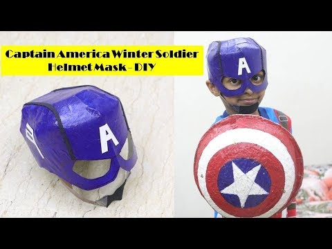 How to make Captain America Winter Soldier Helmet Mask with Cardboard | Captain America Mask DIY