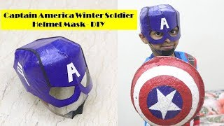 How to make Captain America Winter Soldier Helmet Mask with Cardboard   Captain America Mask DIY