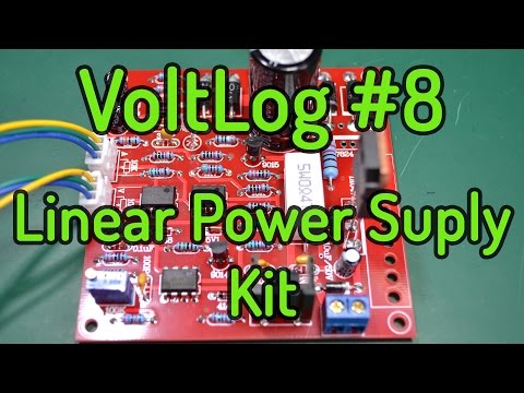 VoltLog #8 - Kit Assembly 0-30V 0-3A Adjustable Linear Bench Power Supply
