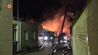Grote brand bij Veldhovens autobedrijf op industrieterrein De Run