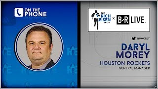 Rockets GM Daryl Morey Talks Draft, Chris Paul-Harden & More w/Rich Eisen   Full Interview   6/21/19