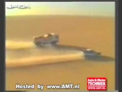 De Rooy Daf vs Peugeot 405 Dakar