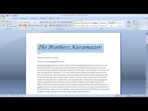 Text Formatting Options