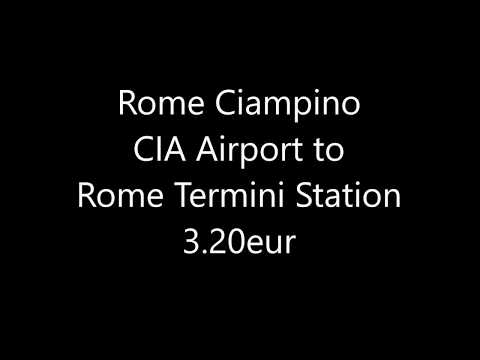 Rome Ciampino Airport To Rome Termini Station 3.20eur By Bus And Train