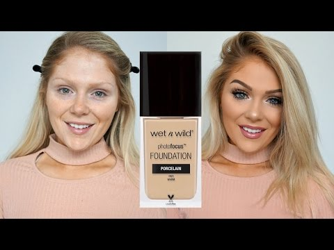 NEW WET N WILD PHOTO FOCUS FOUNDATION FIRST IMPRESSIONS REVIEW + DEMO