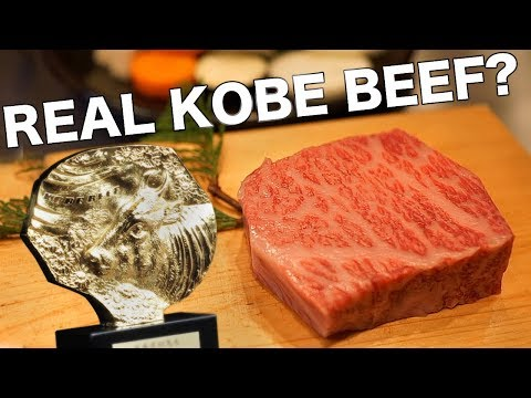 The Truth About Real Kobe Beef - YouTube