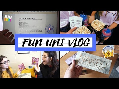 FUN UNI VLOG | Deadlines, Cinema Trips, Food Haul & Makeup Delivery