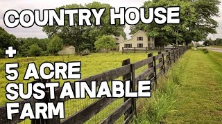Country House and Sustainable Farm For Sale in Kentucky