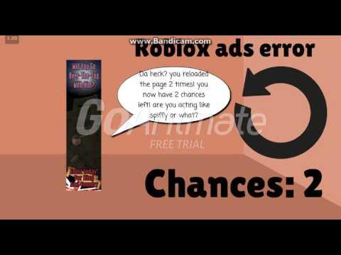Roblox Ads Error 3 (4 Chances)