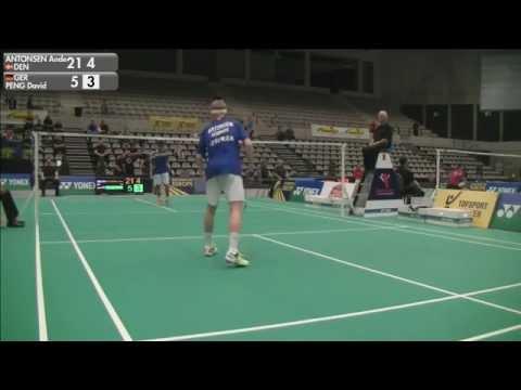 Anders Antonsen vs David Peng (MS, Qualifying) - 2015 Belgian International