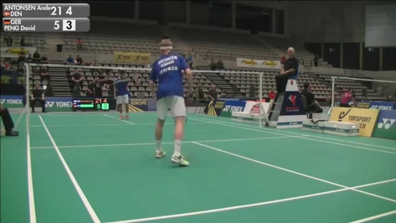 Anders Antonsen vs David Peng MS Qualifying 2015 Belgian