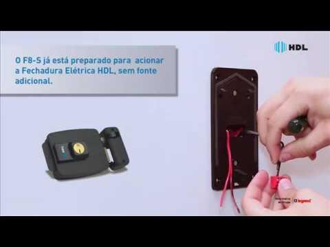 Porteiro eletrônico com monofone HDL instalação - Kalunga.com