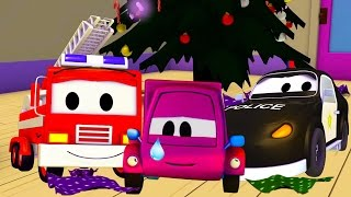 The Car Patrol: fire truck and police car and Suzy and the Stolen Presents in Car City | Christmas