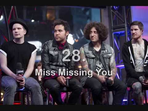 My Top 40 Fall Out Boy Songs