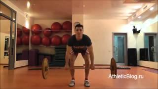 Тяга штанги к поясу в наклоне. Как накачать спину. Техника выполнения упражнения. Обучающее видео(Программа тренировок для начинающих «Подготовительная»: http://www.athleticblog.ru/?page_id=607 Как накачать мышцы спины...., 2014-03-27T15:39:30.000Z)