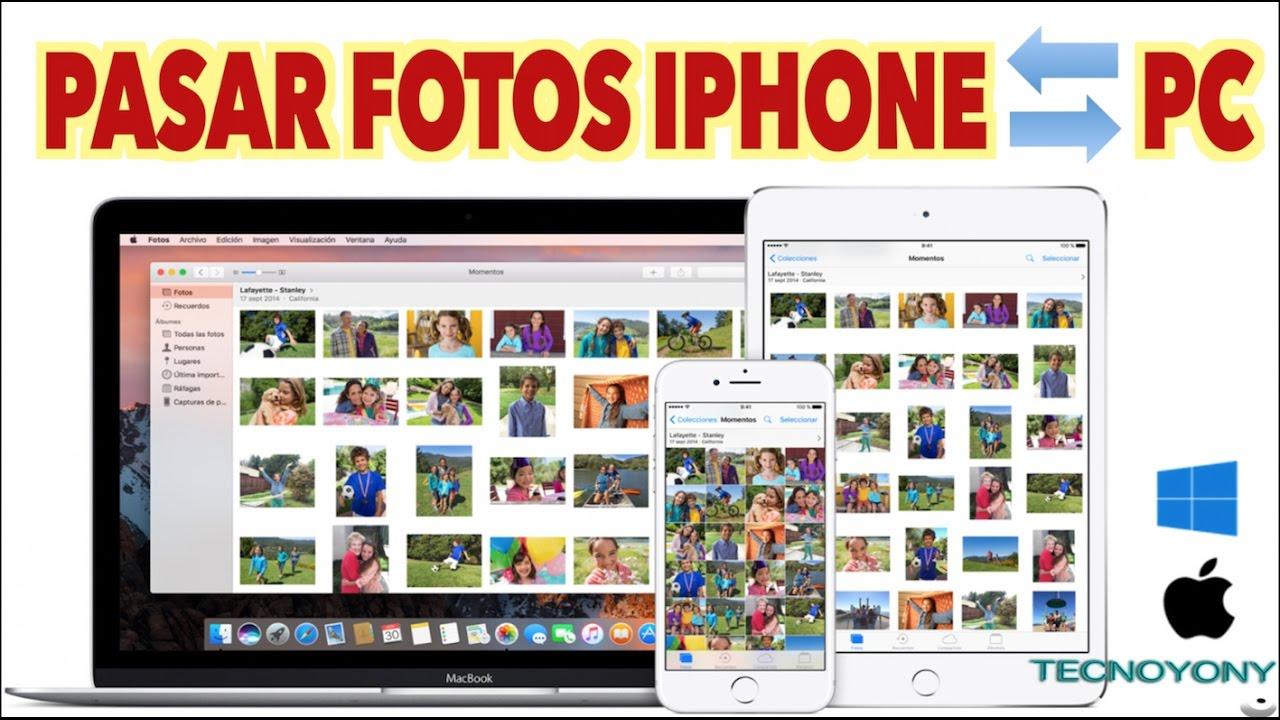 Como Pasar Fotos Del Iphone Al Pc