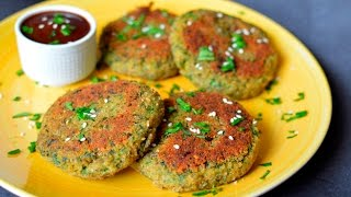 Vegan Crispy Spinach Potato Cakes - Super Easy & Egg Free