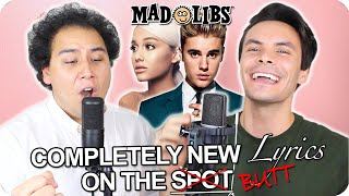 "Gambar cover Ariana Grande & Justin Bieber - ""Stuck with U"" MadLibs Cover (LIVE ONE-TAKE!)"