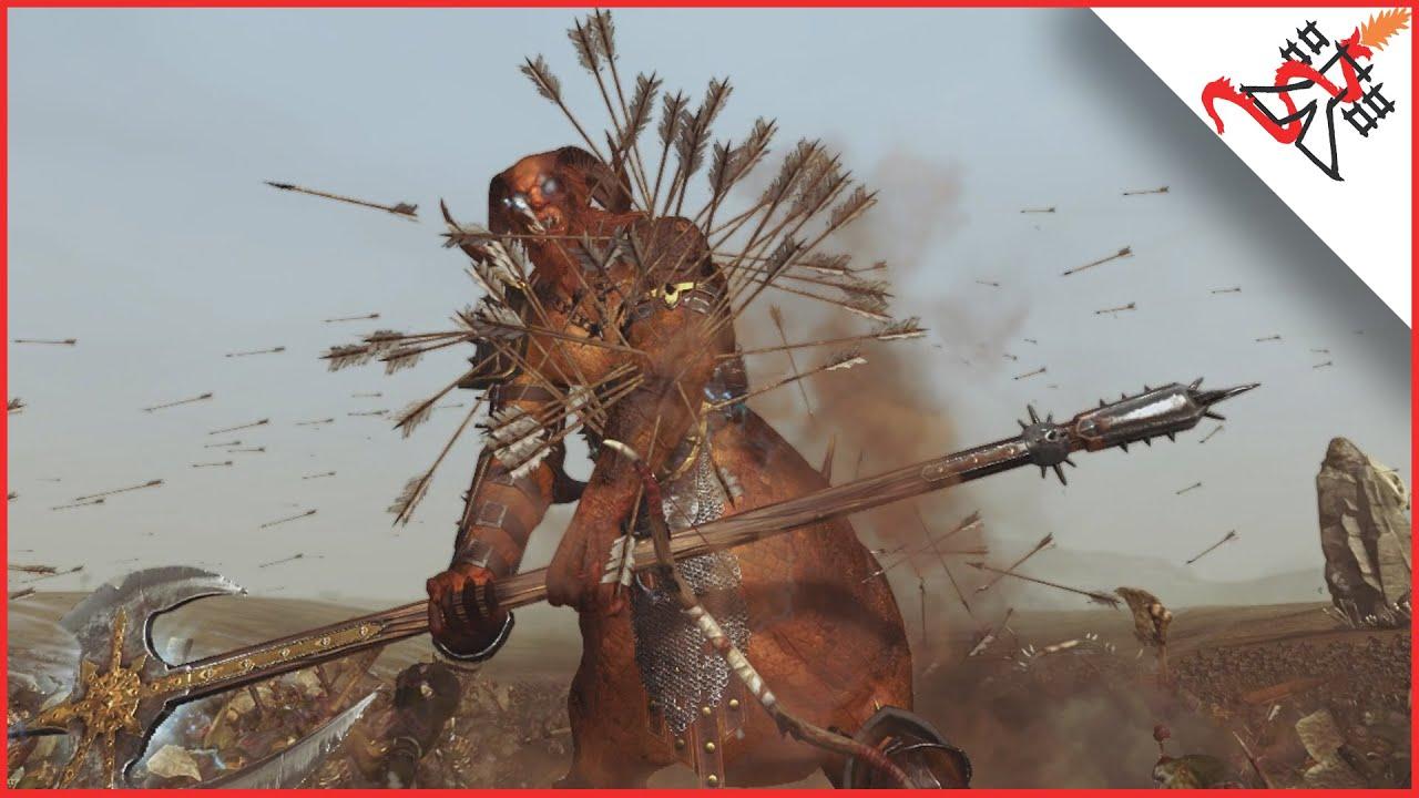 10530 SAVAGE ORC ARRER BOYZ vs 30 DRAGON OGRE SHAGGOTHS - Total War:  WARHAMMER