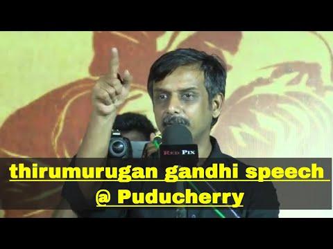 thirumurugan gandhi | thirumurugan gandhi speech at Puducherry |may 17 | tamil news today | redpix |