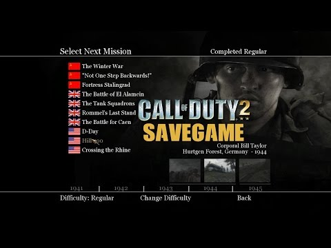 Call Of Duty 2 Save Game Download