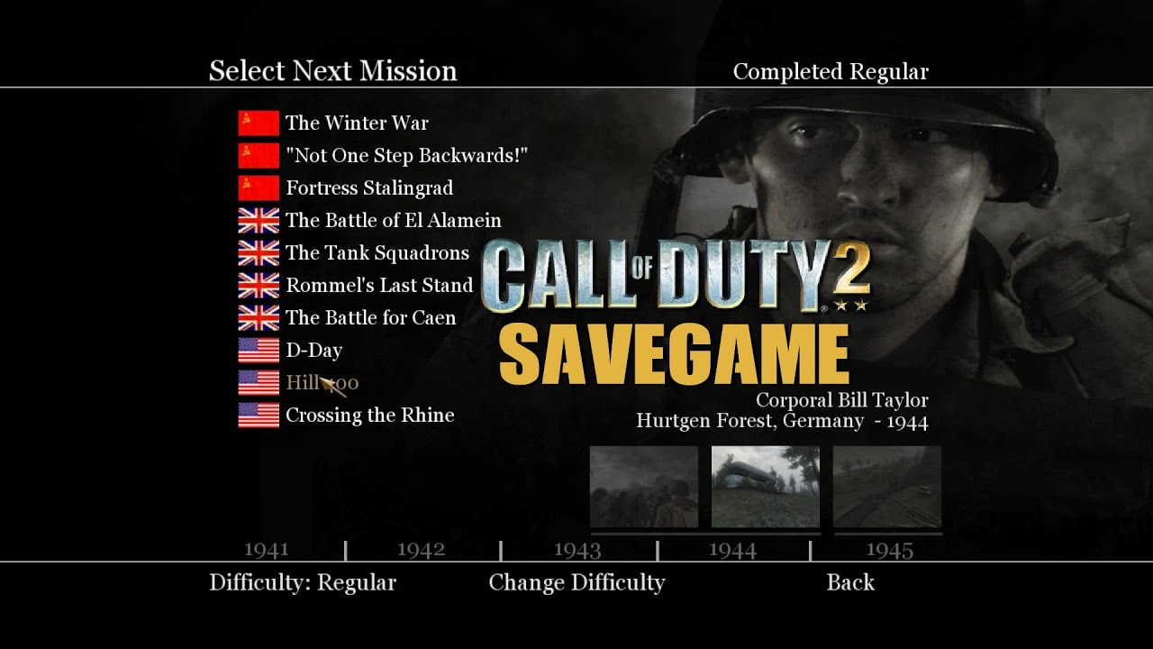Call Of Duty 2 Save Game Ndir