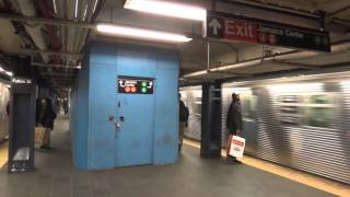 MTA NYC Subway : R160A-2 (F) & R32 (C) Trains Departing Fulton Street
