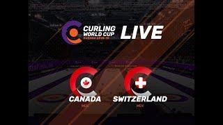 Canada v Switzerland - Men - Curling World Cup First Leg - Suzhou