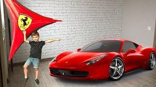 Машинка привела Марка в Феррари парк. Видео для детей.