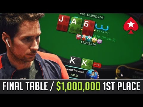 $1,000,000 1st Place FINAL TABLE, SCOOP $1,050 Phase 5,821 entrants