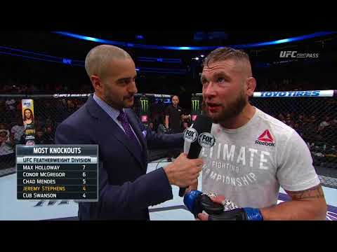 Fight Night Orlando: Jeremy Stephens Octagon Interview