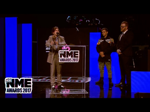 Christine and the Queens win Best International Female at the VO5 NME Awards 2017