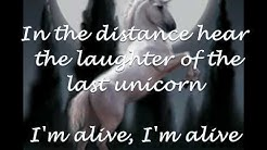 America - The Last Unicorn (with Lyrics)