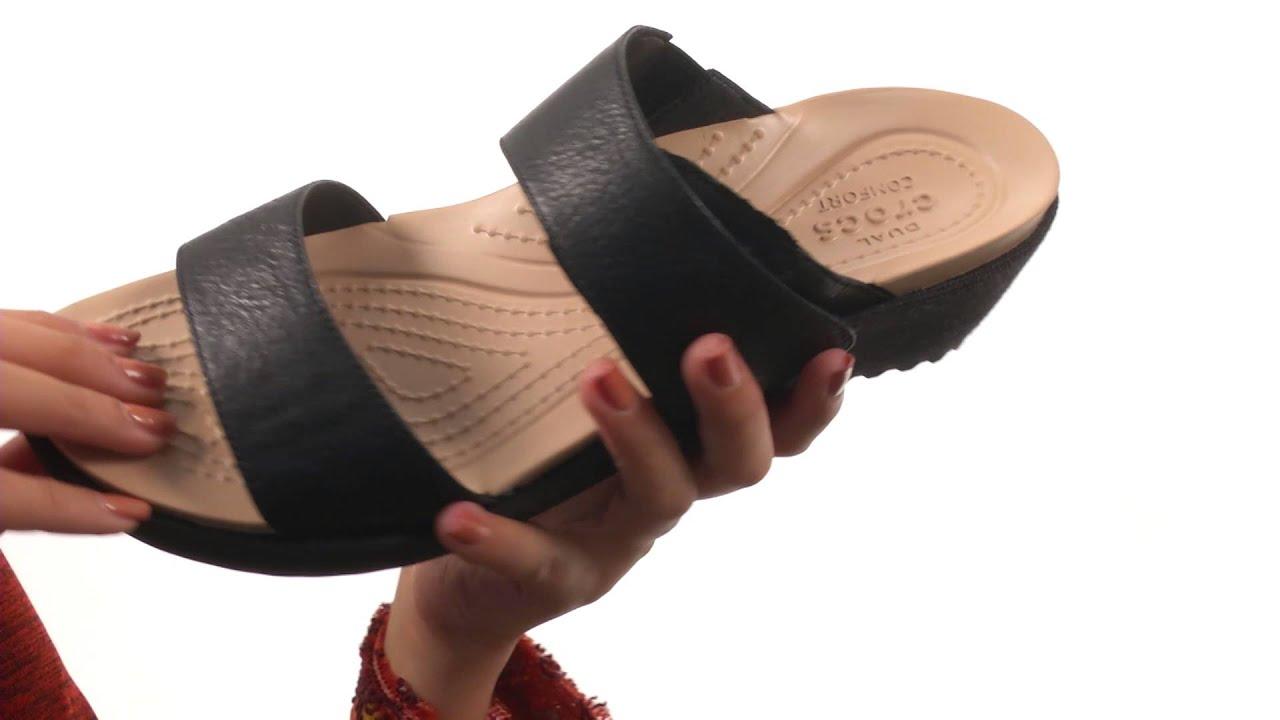 d6f481cfd6e5 Crocs A-Leigh 2-Strap Mini Wedge SKU 8648910 - YouTube