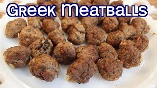 Poppou's Authentic Greek Meatball Recipe (Keftethes)