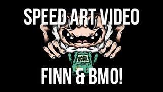 DominantDinosaur:Speed art Adventuretime Finn & BMO